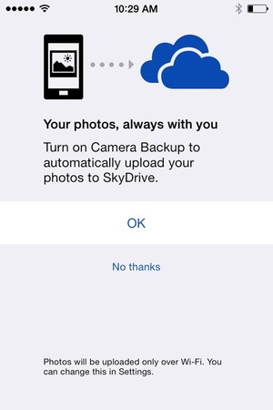 SkyDrive for iOS 7