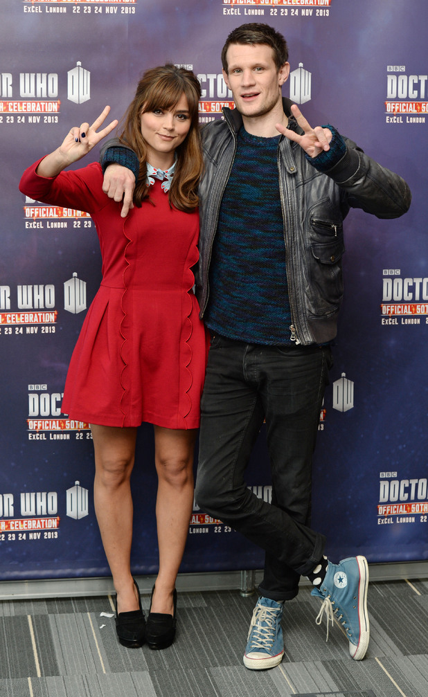 Jenna Louise Coleman and Matt Smith