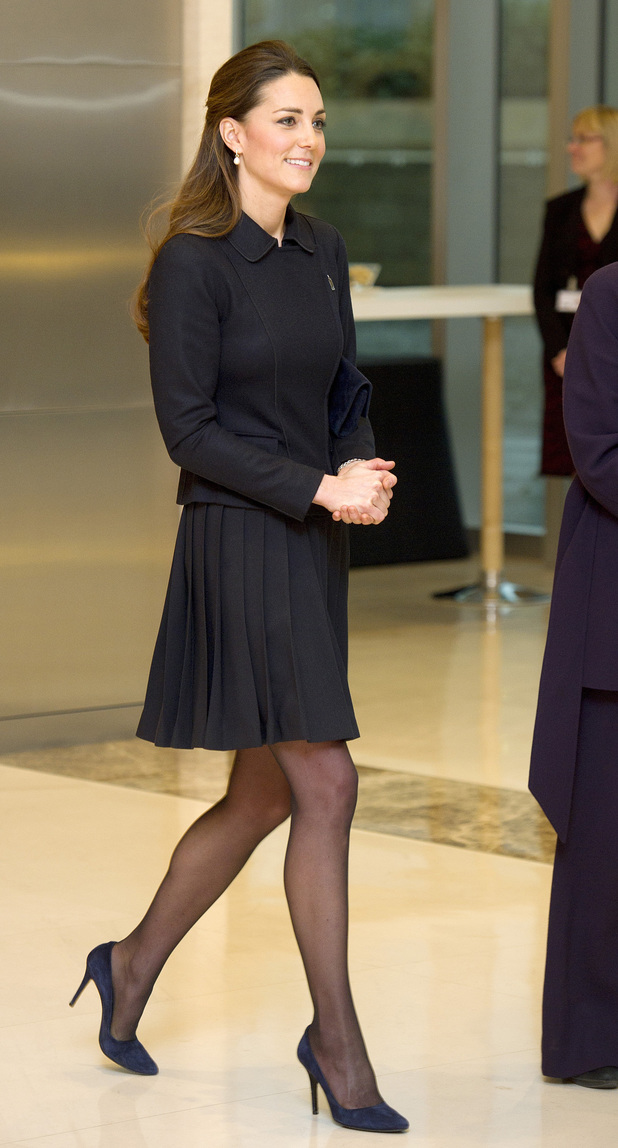 The Duchess of Cambridge at the offices of Clifford Chance in Canary Wharf, east London, to attend the Resilience and Emotional Strength in Schools Forum, organised by the charity Place2Be.