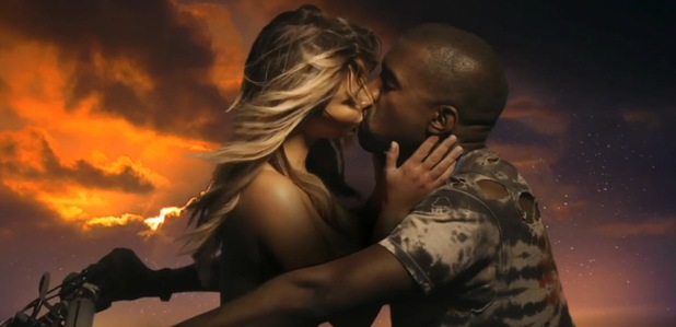 Kanye West, Kim Kardashian in 'Bound 2' video