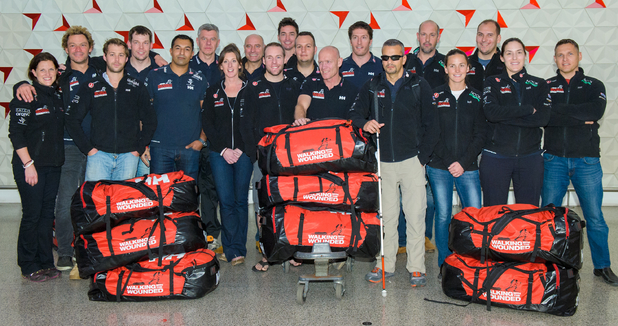 Dominic West and challengers set off for the South Pole Allied Challenge