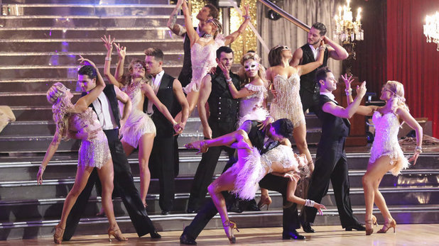 The dancer troupe on Dancing With The Stars week 10