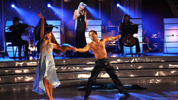 Corbin Bleu & Karina Smirnoff on Dancing With The Stars week 10