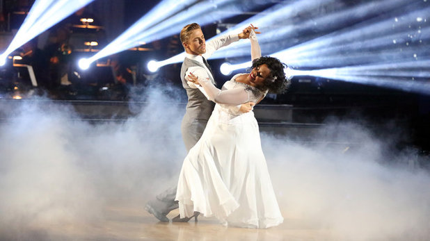 Amber Riley & Derek Hough on Dancing With The Stars week 10