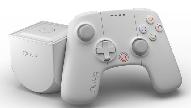 White OUYA games console