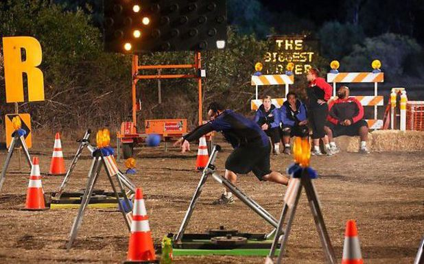 The construction challenge during episode 6 of The Biggest Loser