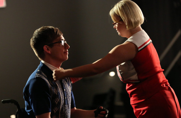 Kevin McHale as Artie and Lauren Potter as Becky in Glee: 'Movin' Out'