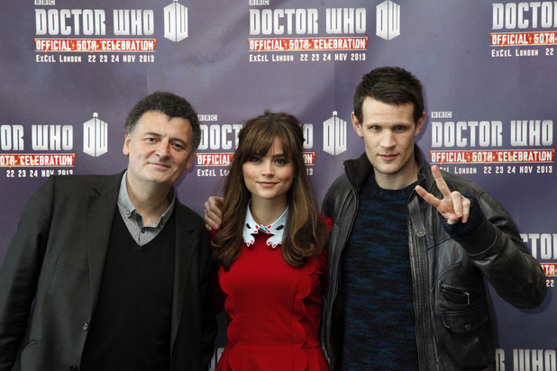 The stars of 'Doctor Who' open the official 50th celebration.