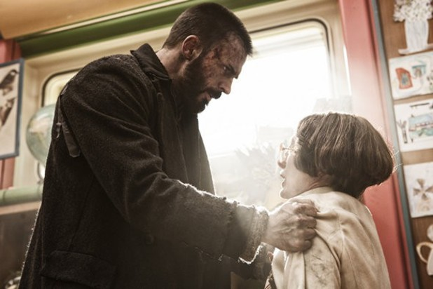 Chris Evans and Tilda Swinton in 'Snowpiercer'