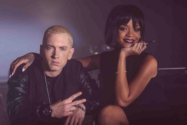 Eminem and Rihanna film 'The Monster' music video.