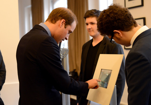 The Duke of Cambridge during a visit to Bafta in central London where he launched the Give Something Back appeal.