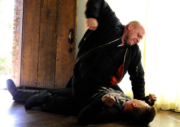 Hank (Dean Norris) and Jesse (Aaron Paul)