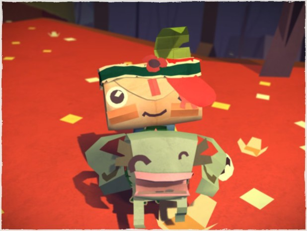 Tearaway in game screenshot
