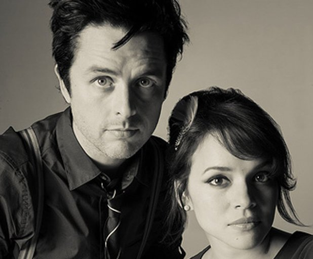 Billie Joe Armstrong and Norah Jones press shot 2013.