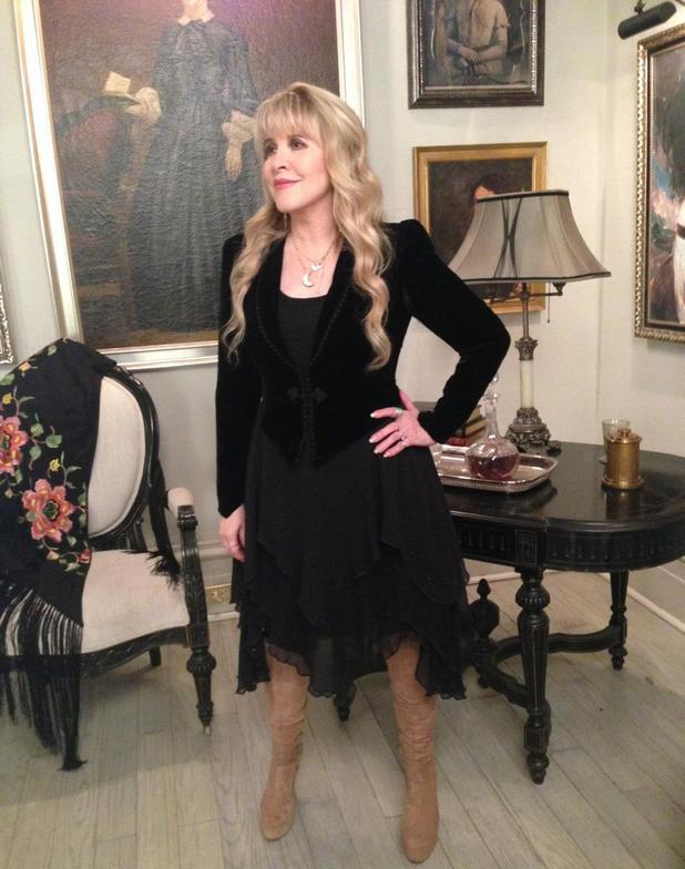 Stevie Nicks on 'American Horror Story: Coven': On-set picture
