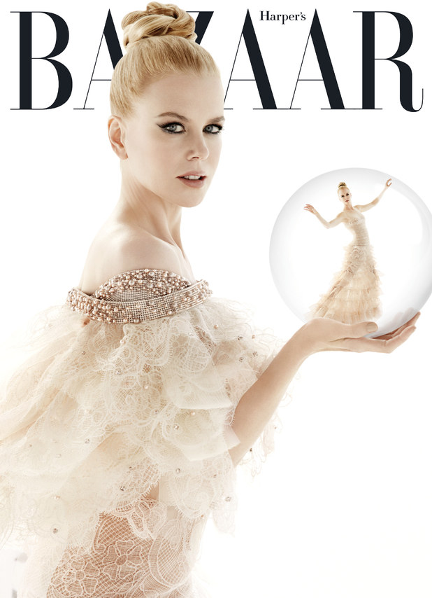 Nicole Kidman on the cover of Harper's BAZAAR Australia