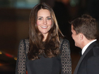 The Duchess of Cambridge presents award at SportsAid SportsBall in London.