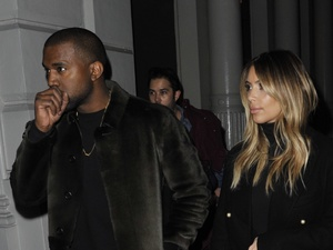 Kim Kardashian and Kanye West shopping in Manhattan