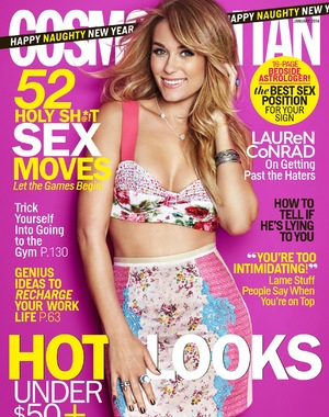 Lauren Conrad on the January cover of Cosmopolitan