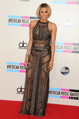 Ciara arrives at the American Music Awards at the Nokia Theatre L.A. Live on Sunday, Nov. 24, 2013, in Los Angeles