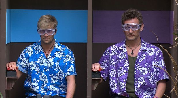 Kian Egan and Matthew Wright during the 'Halfway Holiday Challenge' - Baggage Claim