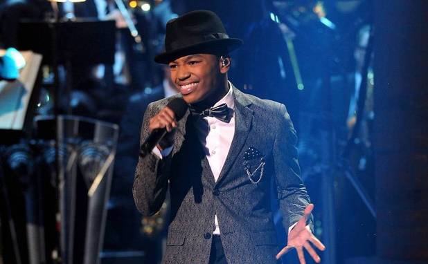 Josh Levi performs during The X Factor USA Big Band week