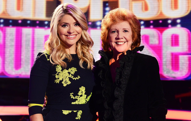 Holly Willoughby and Cilla Black on 'Surprise Surprise'