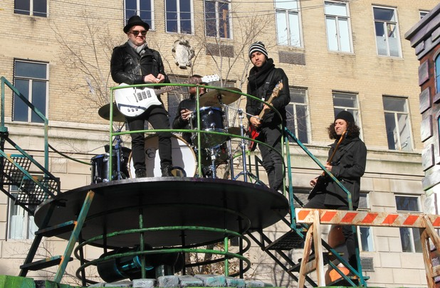 Fall Out Boy at the 87th annual Macy's Thanksgiving Day parade on November 28, 2013 in New York City