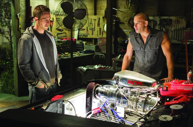 Paul Walker and Vin Diesel in 2009's Fast & Furious