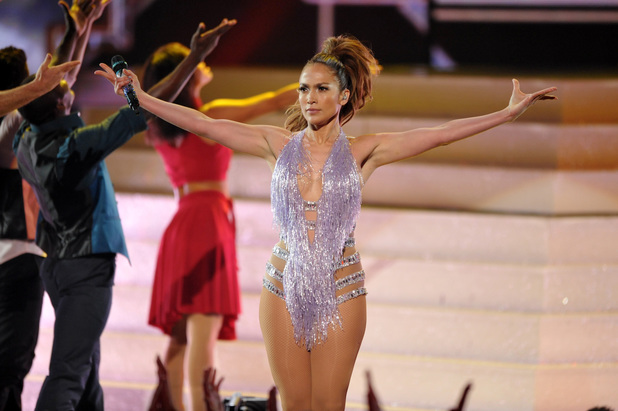 Jennifer Lopez performs at at the American Music Awards