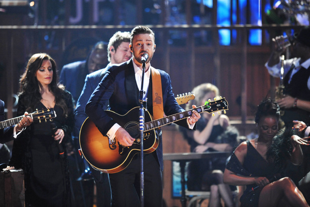 Justin Timberlake performs at the American Music Awards