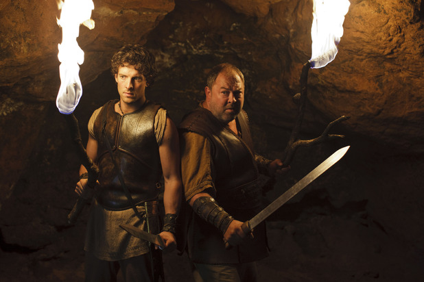 Jack Donnelly as Jason and Mark Addy as Hercules in Atlantis episode 9: 'Pandora's Box'