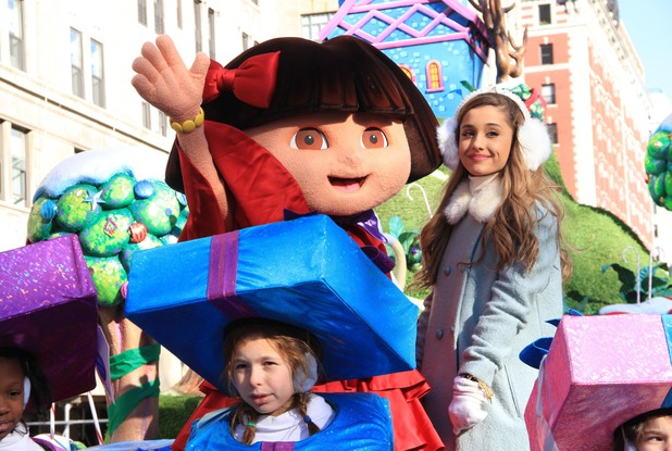 Ariana Grande at the 87th annual Macy's Thanksgiving Day parade on November 28, 2013 in New York City