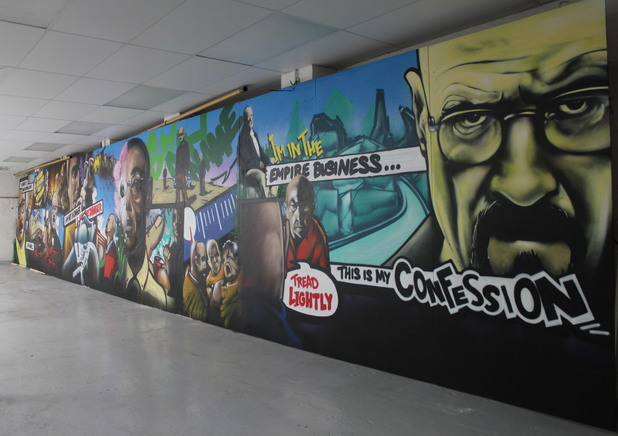 'Breaking Bad' graffiti art