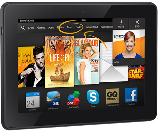 "Amazon Kindle Fire HDX 7"" tablet"