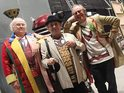 Davison, Colin Baker and Steven Moffat talk the Doctor Who 50th comedy skit.