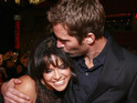 Paul Walker gives Michelle Rodriguez a kiss on the red carpet at the Fast & Furious premiere, 2009