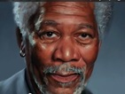 Morgan Freeman photorealistic portrait created on iPad