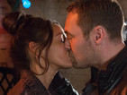 Carla finds Tina and Rob kissing passionately.