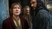 'The Hobbit: The Desolation of Smaug' continues the adventure of Bilbo Baggins (Martin Freeman) as he journeys with Gandalf (Ian McKellen) and 13 Dwarves, led by Thorin (Richard Armitage) on a quest to reclaim the lost Dwarf Kingdom of Erebor.