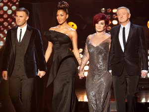 The X Factor judges arrive for the 2013 semi final