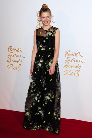 Clemence Poesy arriving for the 2013 British Fashion Awards, at The London Coliseum, St Martin's Lane, London.