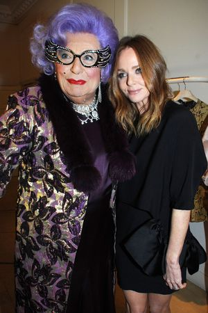 Stella McCartney store Christmas lights switching on ceremony, London, Britain - 04 Dec 2013 Dame Edna Everage and Stella McCartney 4 Dec 2013