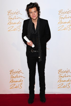 Harry Styles arriving for the 2013 British Fashion Awards, at The London Coliseum, St Martin's Lane, London.