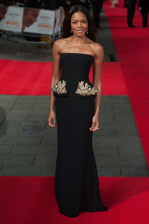 Naomie Harris arriving arriving for the Royal Film Performance of Mandela: Long Walk to Freedom, at the Odeon Leicester Square, London.