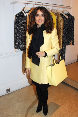 Stella McCartney store Christmas lights switching on ceremony, London, Britain - 04 Dec 2013 Salma Hayek 4 Dec 2013