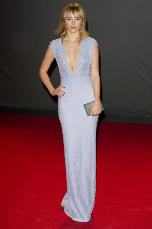 Suki Waterhouse arriving for the 2013 British Fashion Awards, at The London Coliseum, St Martin's Lane, London.