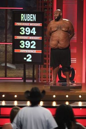 Ruben's weigh-in during episode 8 of The Biggest Loser