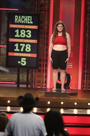 Rachel's weigh-in during episode 8 of The Biggest Loser
