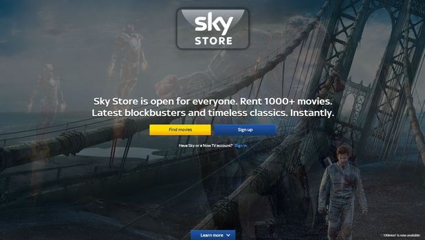 The Sky Store website
